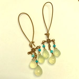 Jewelry - 3 for $8 / Turquoise dangle drop earrings